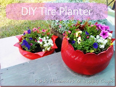 From tires to planter