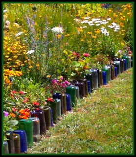 Recycled Bottle Garden Border